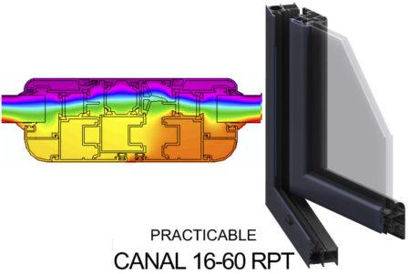 carpinteria aluminio transmitancia termica abatible canal16 60rpt