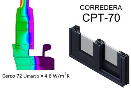 carpinteria aluminio transmitancia termica corredera cpt70